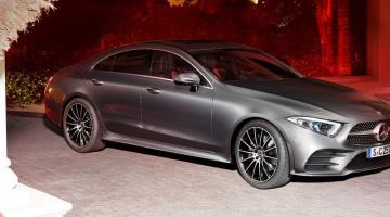 Mercedes cls plateado