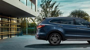 Hyundai grand santa fe azul
